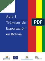 Trámite de Exportación en Bolivia