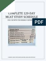 Study Schedule 1