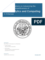 Arkansas Analytics and Computing Partnership Report