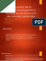 Aplicación de La Resonancia Magnética Nuclear