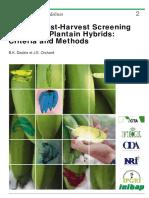 Routine Post-harvest Screening of Banana Plantain Hybrids Criteria and Methods 235
