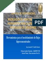 Modelación de Huaycos como herramienta para la gestión y prevención de Desastres .pdf