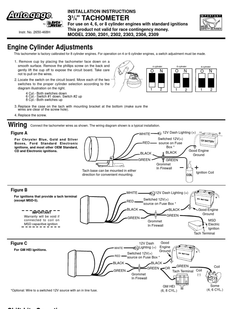Autogage By Autometer Tach Wiring Diagram from imgv2-1-f.scribdassets.com