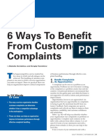 6 Formas de Beneficiarse de Quejas de Clientes