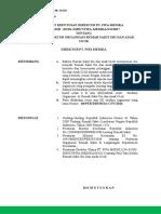 SK Revisi Struktur Organisasi