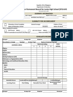 School Form 10 SF10 Learner's Permanent Academic Record for Junior High School.xlsx