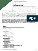 Jerarquía Digital Síncrona - Wikipedia, La Enciclopedia Libre