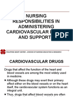 Nursing Responsibilities in Administering Cardiovascular Drugs
