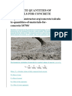 CALCULATE QUANTITIES OF MATERIALS FOR CONCRETE design by volume ratio.docx
