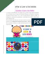 Cómo Enseñar a Leer a Los Bebés