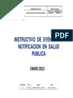 Instructivo Eventos de Notificacion Salud Publica
