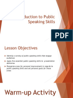 Introduction to Public Speaking Skills