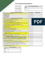 Check List de Equipos Móviles