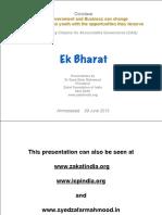 S. Zafar Mahmood Talk - Ahmedabad June 29 2013