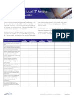 Disaster Recovery Preparedness Checklist