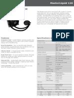 Water Cooler MasterLiquid 120 Product Sheet