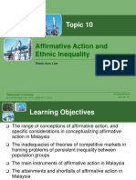 Note 10 Affirmative Action and Ethnic Inequality