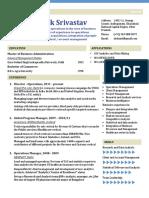 Shshank Srivastav Resume