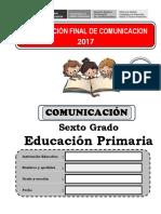 6° PRUEBA COMUNICACIÓN