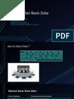 Pengenalan Basis Data dan Sistem Basis Data
