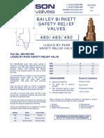 Data Sheet No. 13.07 - 480_485_490 Safety Valve