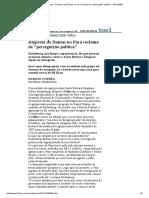 AgroSB Reclama de Perseguição Política