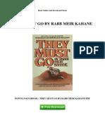 They Must Go by Rabb Meir Kahane