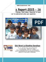 SNBS NGO Progress Report 2015-16