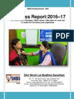 SNBS NGO Progress Report 2016 -17