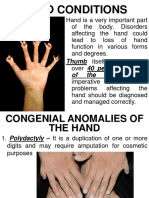 Week 11 Hand Condition