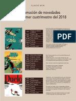 Programación novedades primer cuatrimestre 2018-1