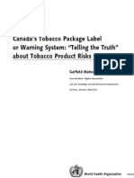 Canada's Tobacco Package Label or Warning System