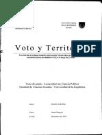 Voto y Territorio Montevideo 1984-2009
