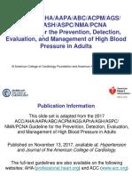 2017 Blood Pressure Guideline