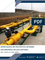 Brochure Especialista en Proyectos de Redes Secundarias de Gas Natural