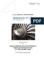Engine - Aeroflot RFP for Airbus 320 Engines -PBH and NTE