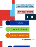 Programa Presupuestal 0083 Pnsr