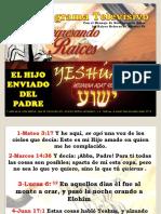 YESHUA EL HIJO ENVIADO DEL PADRE