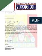 PREX Caroling Letter