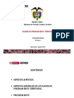 Ordenamiento Territorial Agosto 2013