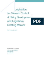 Model Legislation for Tobacco Control