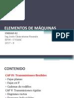 ELEMENTOS DE MÁQUINAS - Tranmisiones flexibles y rígidas