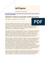 Subsidies in Fisheries Anomalies in WTO Documents