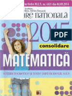 Evaluarea Națională 2015. Matematică - Teme Recapitulative - 80 de Teste După Modelul M.E.N.