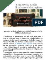 Interview With the Atheist-rationalist Francesco Avella (Bibliotheka Edizioni)
