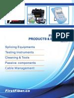 Fiber Optics Catalogue Ver2.01 Publish by FirstFiber.cn