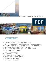 Introduction of Taj Hotels