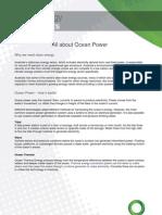 CEC - Ocean Power Fact Sheet