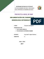 Proyecto Snip Gabinete Mineralogia.