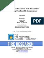 FireHazardsofExteriorWallAssembliesContainingCombustibleComponents- Nfpa Report